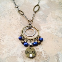 Blue & Gold Double sided Necklace